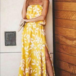 NWOT Honolulu Baby Strapless Maxi Dress